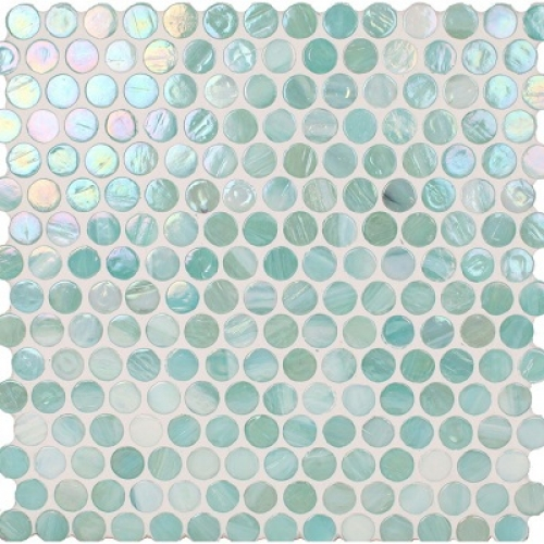 Marbleized Penny Round Surf Pearl