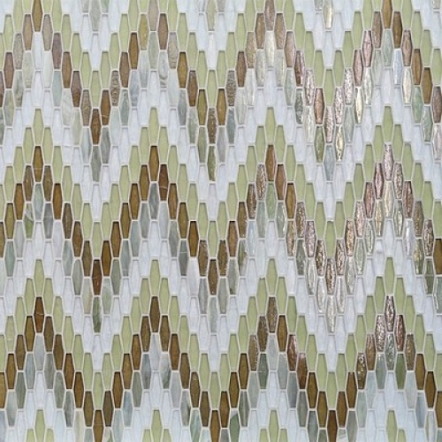Textile Bargello Anise Mixed