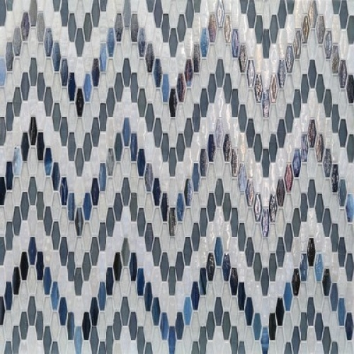 Textile Bargello Blue Stone Mixed
