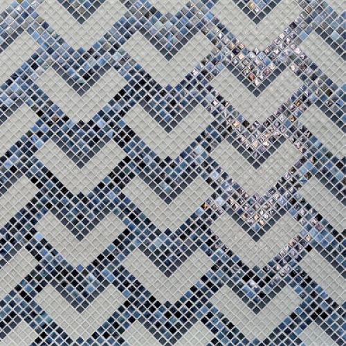 Textile Normandie Deco Blue Stone Mixed