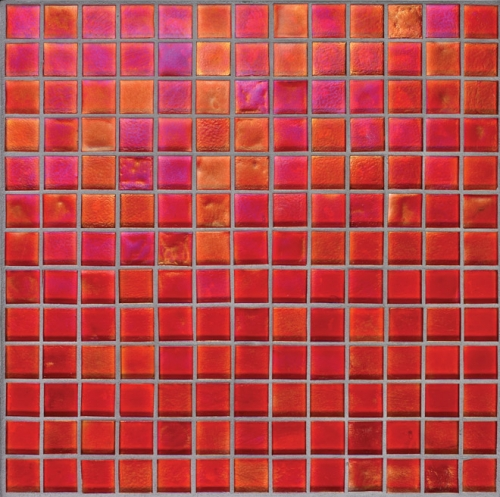 Oceanside-Red Iridescent 077 Mosaic