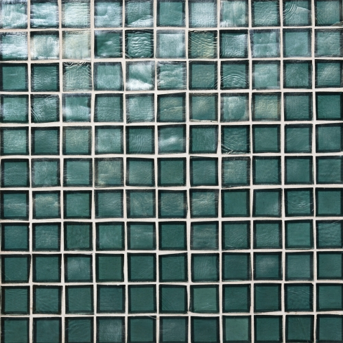 Iridescent Mosaic Tile Tropical Reef 042