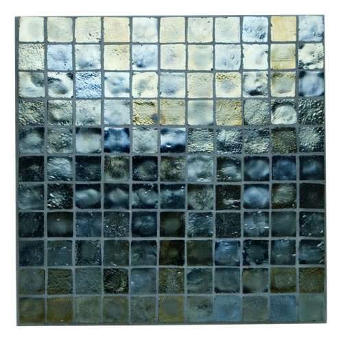 Iridescent Mosaic Tile Pewter 047