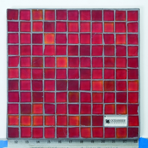 Matte Mosaic Tile Red 377