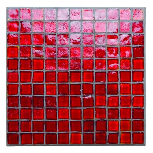 Non-Iridescent Mosaic Tile Red 777