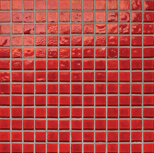 Oceanside-Red Non-Iridescent 777 Mosaic