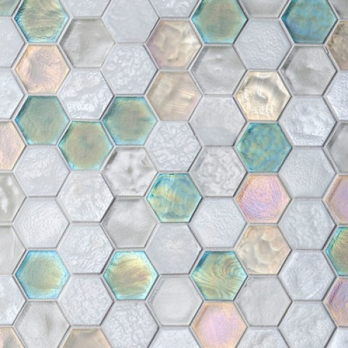 "Muse 1-5/8"" Hexagon Mosaic Pattern"